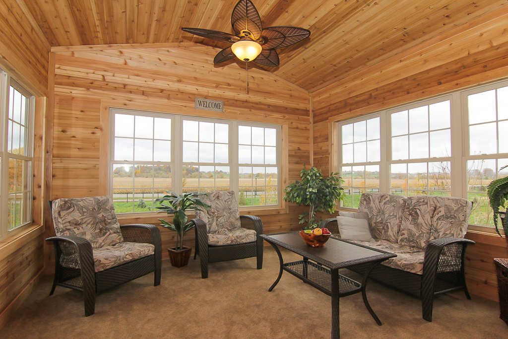 Add a three season porch to your custom built home for Three season porch