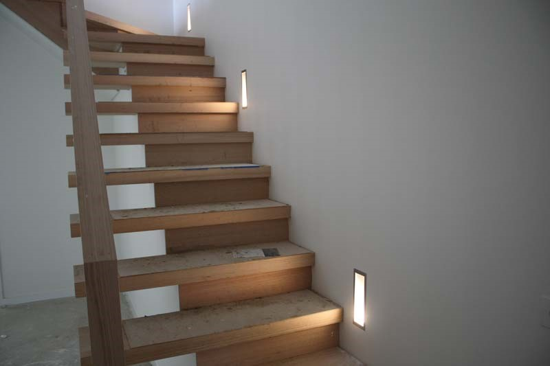 stairwell lighting. There Are Different Ways To Light The Stairs. As You Can See In Photo Left, Install Lights Along Wall That Stairs Built Stairwell Lighting U