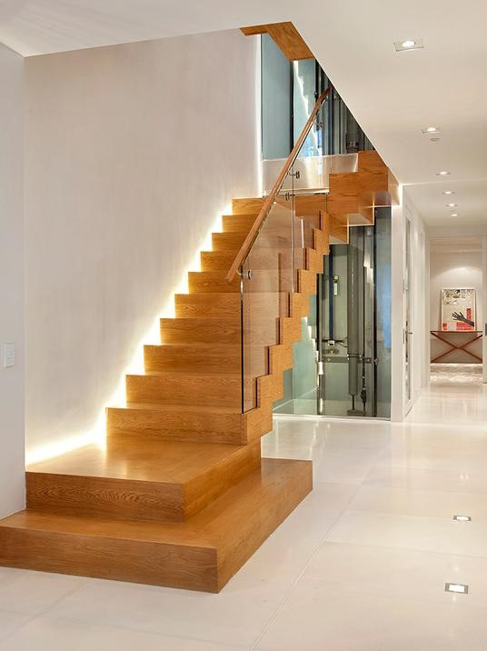 stairwell lighting, remodeling, custom built