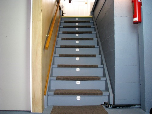 stairwell lighting in your custom built home design. Black Bedroom Furniture Sets. Home Design Ideas