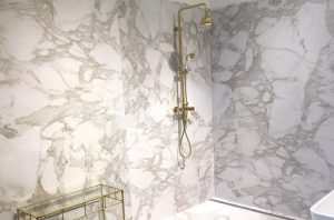 slab granite panels, waunakee, shower