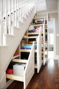 storage, home plans, built in storage, stairs, stairwell,