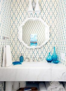 powder room, bathroom, bath decor, Madison building