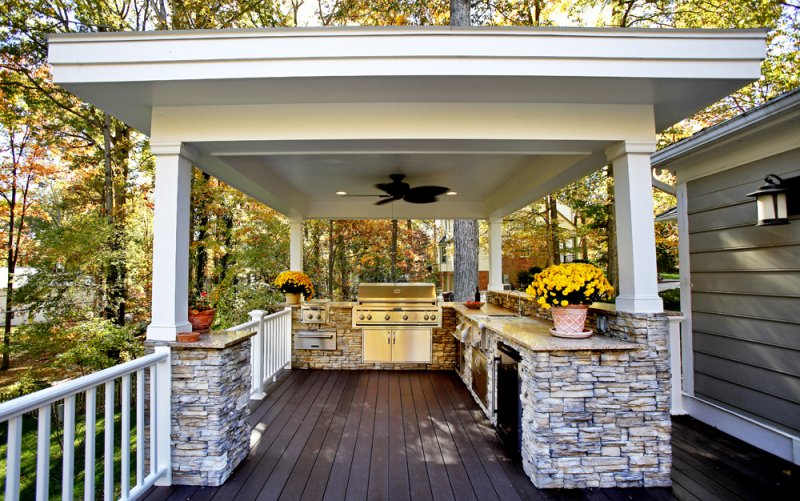 Outdoor living spaces design custom homes - Covered outdoor living spaces ...