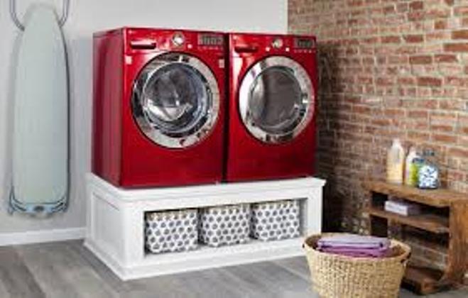 DIY Washer & Dryer Pedestals