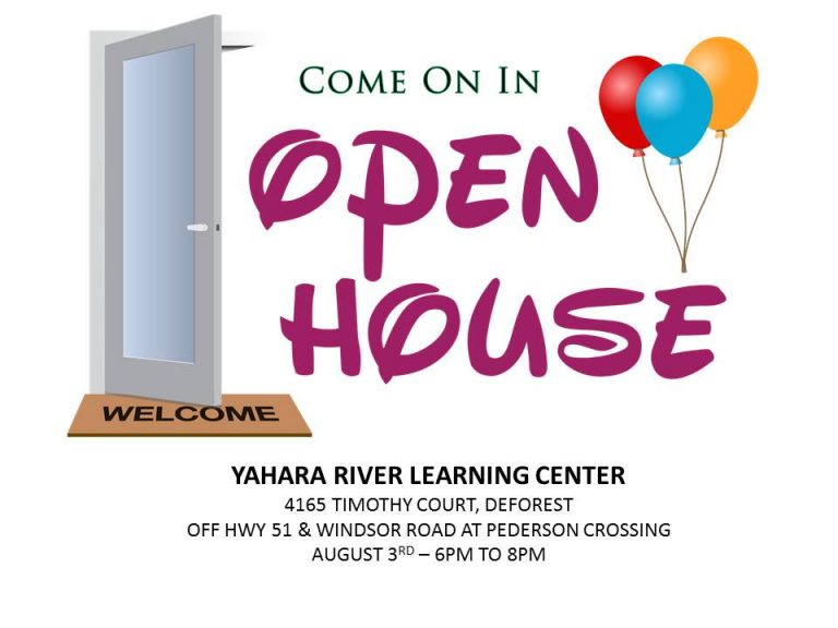 Yahara River Learning Center to hold an Open House